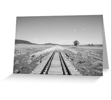 End of the Line - Black & White Greeting Card