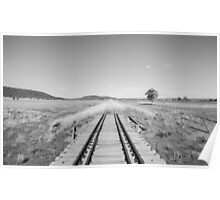 End of the Line - Black & White Poster