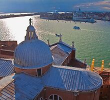 Italy. Venice. Another View from San Giorgio Maggiore Bell tower. by vadim19