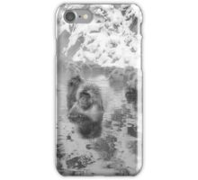 Snow Monkeys - Black & White iPhone Case/Skin