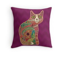 sugar cat Throw Pillow