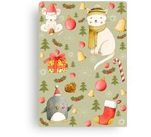 Christmas Pattern Canvas Print