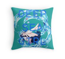 Deep Sea Girl - Hatsune Miku Throw Pillow