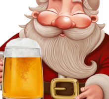 Santa Claus Beer Sticker
