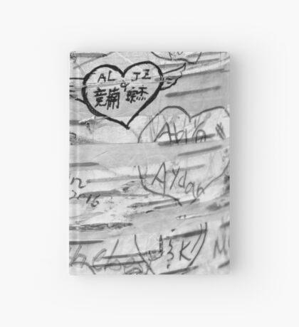 Love Memories in Lover's Lane, Green Gables, black white Hardcover Journal
