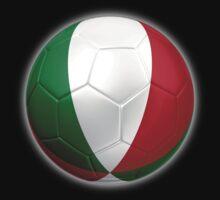 Italy - Italian Flag - Football or Soccer 2 by graphix