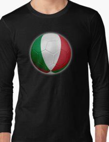 Italy - Italian Flag - Football or Soccer 2 Long Sleeve T-Shirt