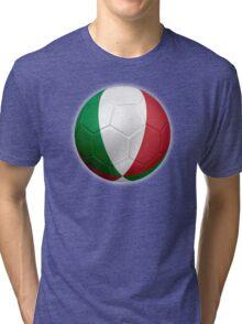 Italy - Italian Flag - Football or Soccer 2 Tri-blend T-Shirt