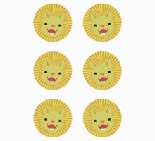 Six lions stickers by jazzydevil