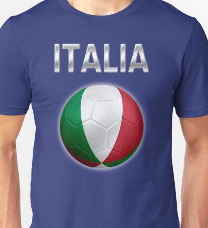 Italia - Italian Flag - Football or Soccer Ball & Text 2 Unisex T-Shirt