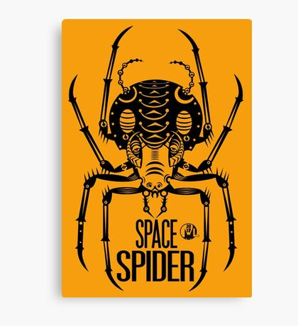 Space Spider! (black) Canvas Print