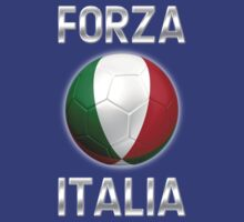 Forza Italia - Italian Flag - Football or Soccer Ball & Text 2 T-Shirt