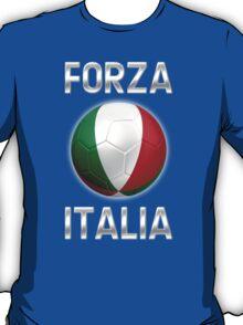 Forza Italia - Italian Flag - Football or Soccer Ball & Text 2 T-Shirt