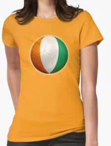 Ivory Coast - Cote d'Ivoire - Ivorian Flag - Football or Soccer 2 Womens Fitted T-Shirt