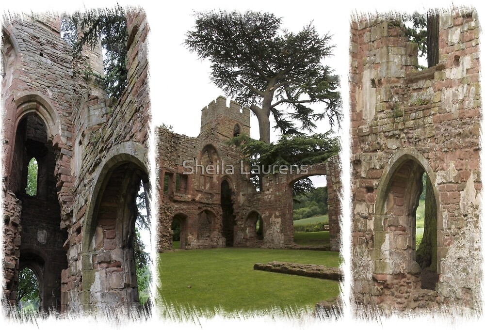 Acton Burnell Castle Triptych by dunawori