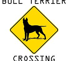 Bull Terrier Crossing by kwg2200