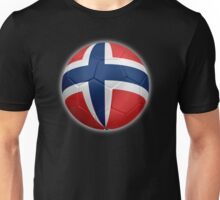 Norway - Norwegian Flag - Football or Soccer 2 Unisex T-Shirt