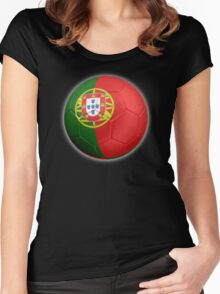 Portugal - Portuguese Flag - Football or Soccer 2 Women's Fitted Scoop T-Shirt