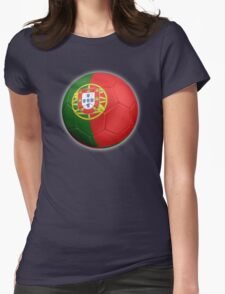 Portugal - Portuguese Flag - Football or Soccer 2 Womens Fitted T-Shirt