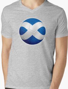 Scotland - Scottish Flag - Football or Soccer 2 Mens V-Neck T-Shirt