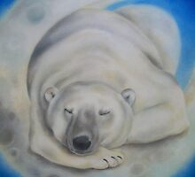 sleepy bear by Louise Masters