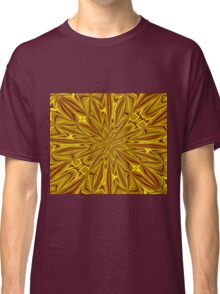 Luxury Red and Gold Foil Christmas Kaleidoscope Classic T-Shirt