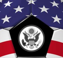 Team USA - American Flag - Football or Soccer Ball & Text Sticker