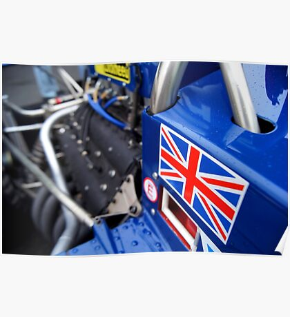 Historic F1 Car with Union Jack Poster