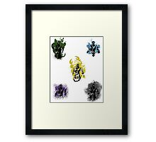 Many faces of Ninjas. Framed Print