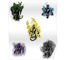 Many faces of Ninjas. Poster