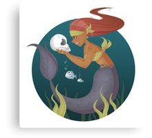 Piranha Mermaid Canvas Print