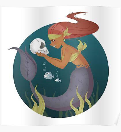 Piranha Mermaid Poster