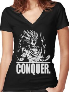 CONQUER - Teen Power Women's Fitted V-Neck T-Shirt