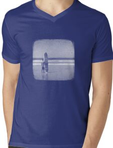 Stand by your Board - Halftone (White) Mens V-Neck T-Shirt