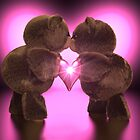 Kissing Teddy Bears by imaginecgimages