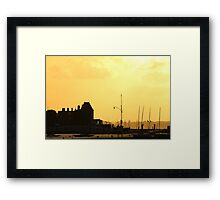 Cowes Sunset Framed Print
