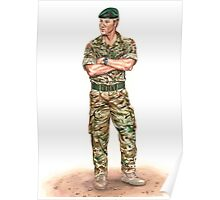 Royal Marine Officer Poster