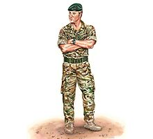 Royal Marine Officer Photographic Print