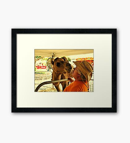 """Finally, Face to Face! This Tent isn't Big Enough for the Both of Us.""... prints and products Framed Print"