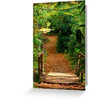 Gatlinburg Trail Bridge Greeting Card