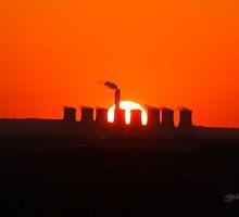 Cottam Power Station Sunset by Jonathan Cox