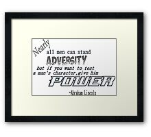 Power  Framed Print