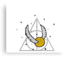 Snitch and Deathly Hallows Metal Print