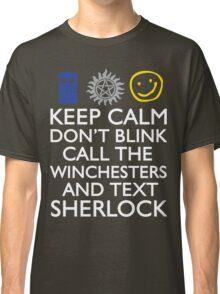 SUPERWHOLOCK SUPERNATURAL DOCTOR WHO SHERLOCK Classic T-Shirt