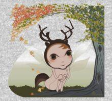 Deery Fairy under Autumn Leaves Baby Tee