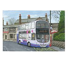 Horsforth Leeds Bus Photographic Print