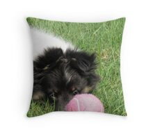 Molly And The Ball Throw Pillow