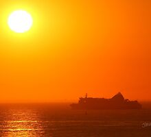 Brittany Ferries Normandie Sunrise by Jonathan Cox