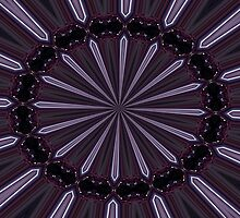 Eggplant and Pale Aubergine Abstract Floral Pattern by taiche