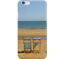 Deck Chairs on Sandown Beach iPhone Case/Skin